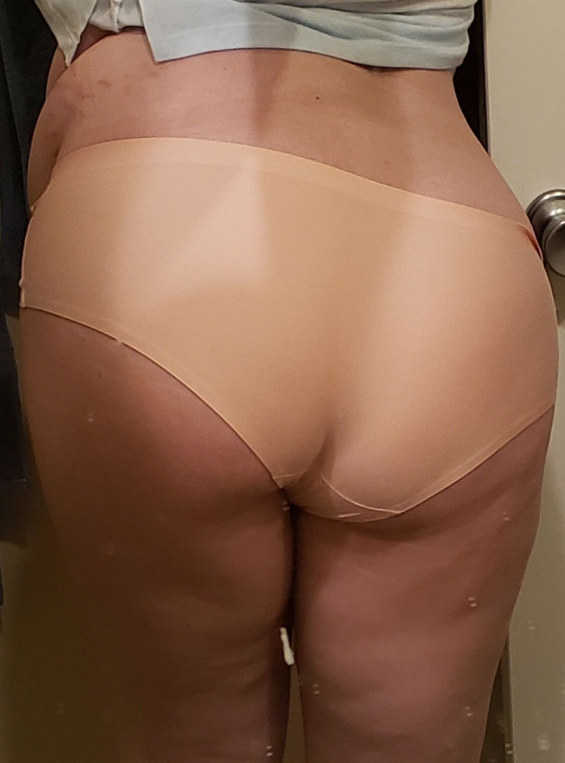 Silky pink panties with pussy juice