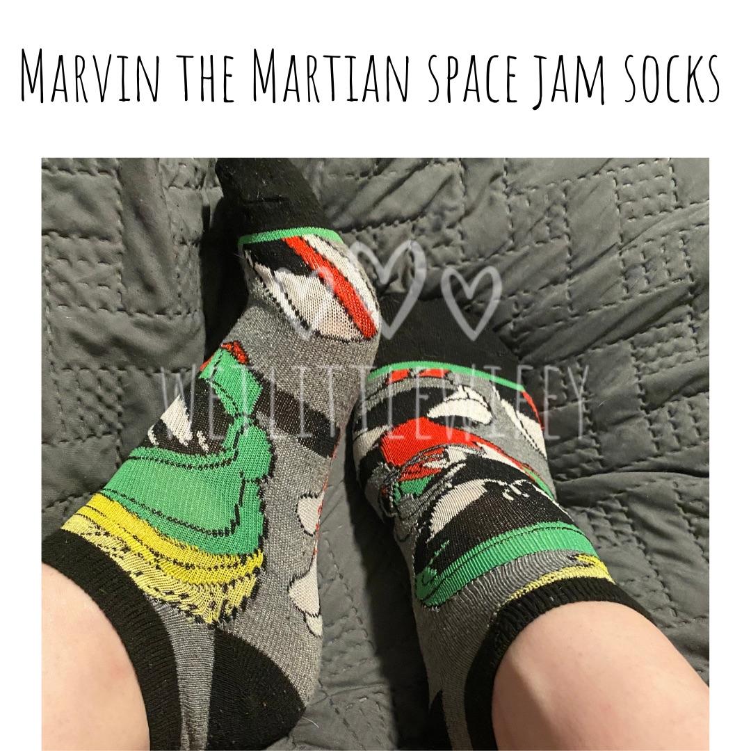 Marvin the Martian space jam socks